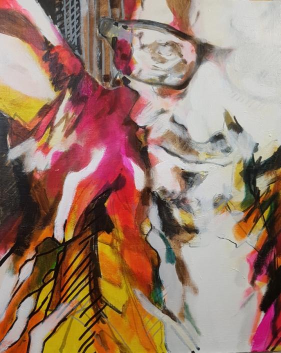 Selbstportrait, flammend