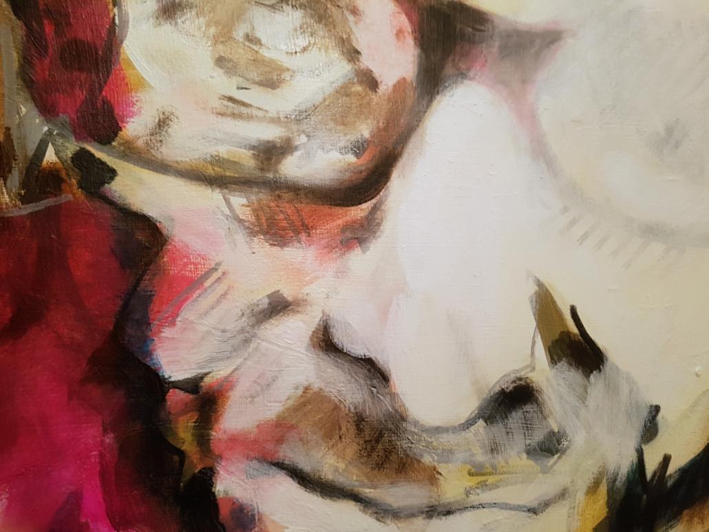 Selbstportrait, flammend - Detail