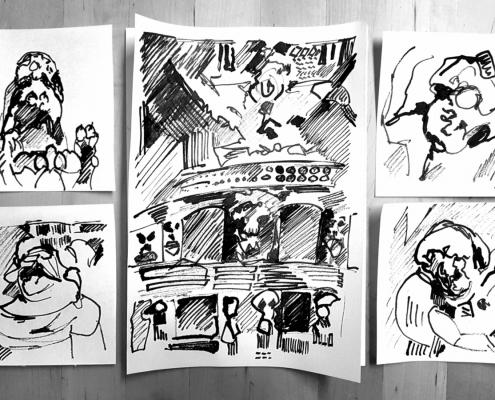WASA Tinte Zeichnungen