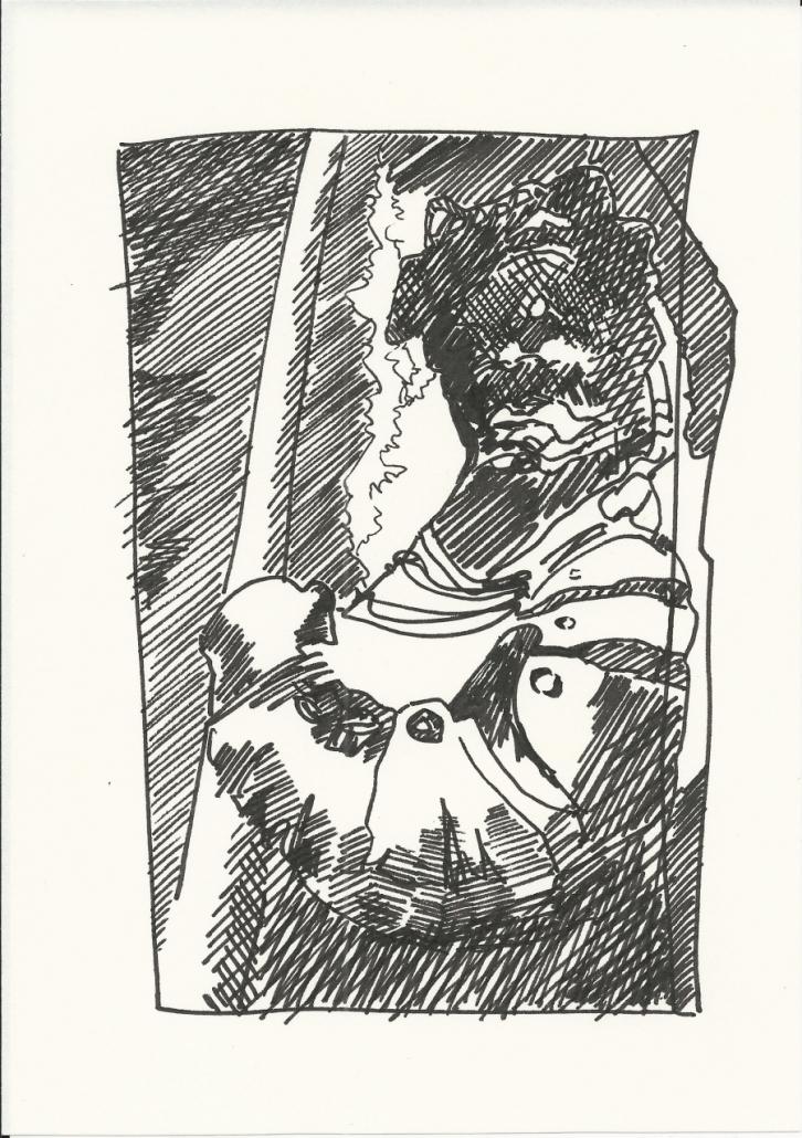 Wallenstein Postkarte-2 Soldat mit Pike