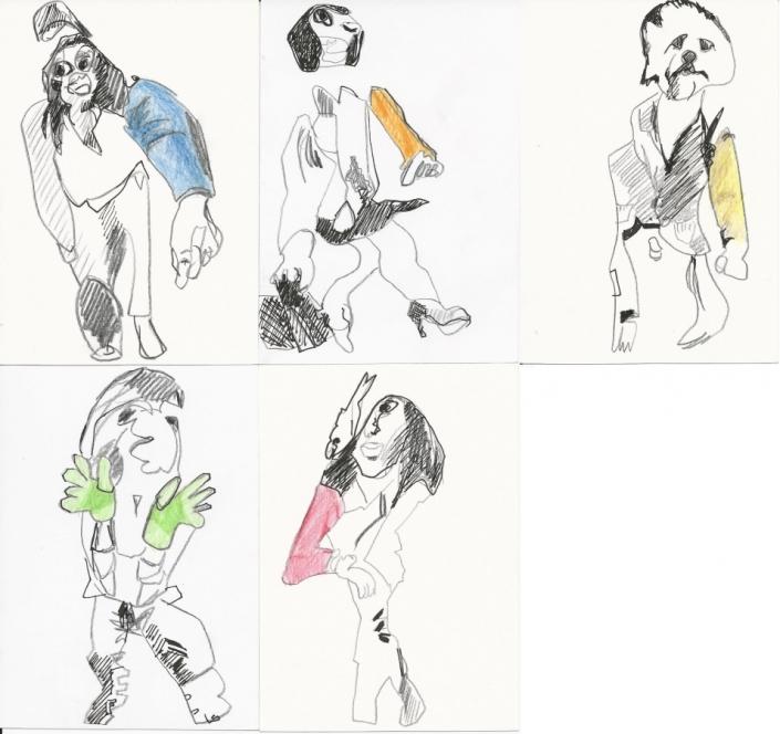Collage Zeichnung (alle Farben)