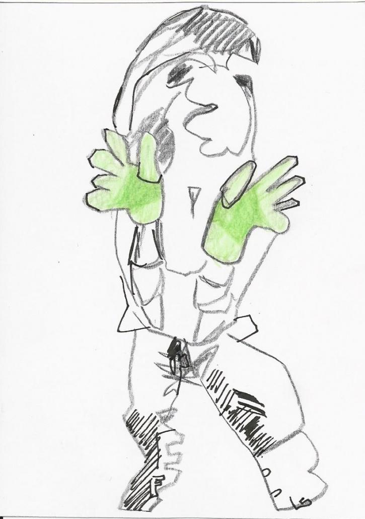 Collage Zeichnung Grün