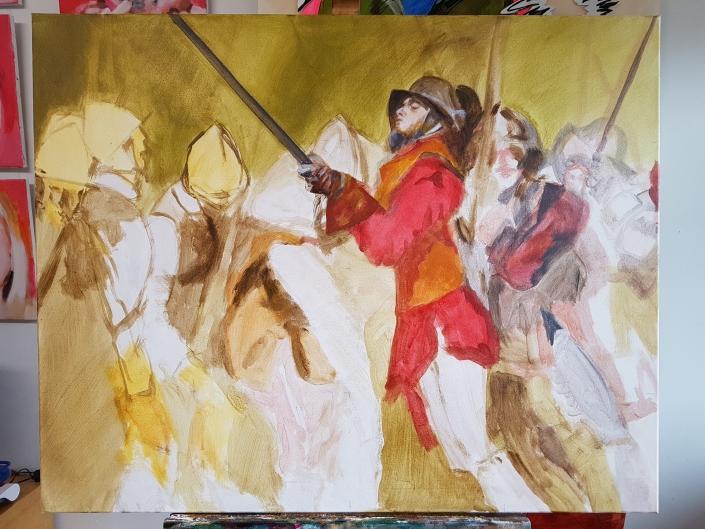 Pikeniere Gemälde in Arbeit 4