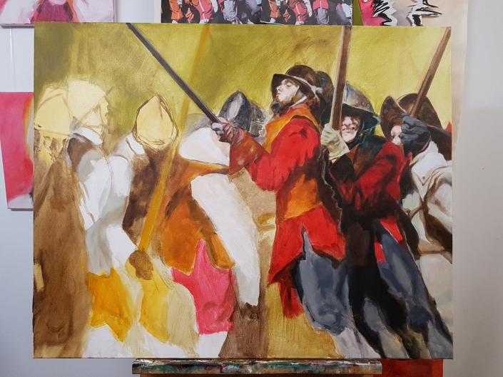 Pikeniere Gemälde in Arbeit 8