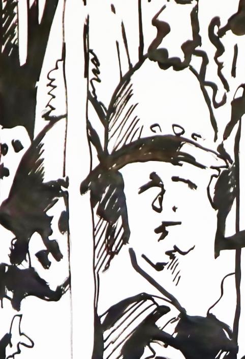 Pikeniere grosse Pinselzeichnung Detail-2