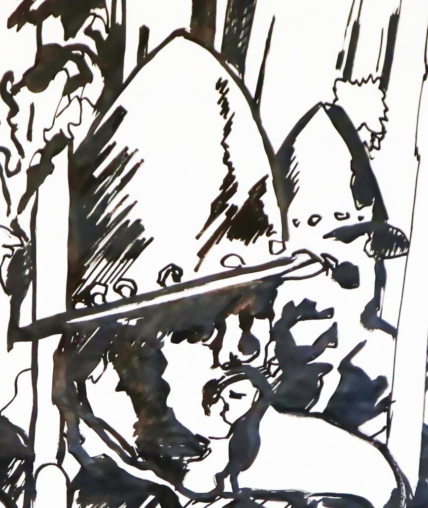 Pikeniere grosse Pinselzeichnung Detail-3