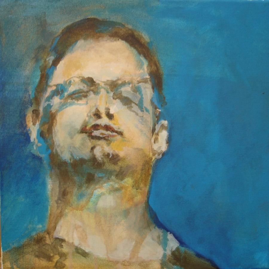 """Selbstportraits 2011 """"Selbst, mit feiner Brille"""""""